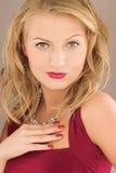 Blonde Frau der Schönheit Stockbilder