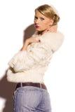 Blonde Frau der Schönheit Lizenzfreies Stockfoto