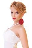 Blonde Frau der Schönheit Stockfotografie