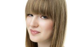 Blonde Frau des Gesichtes Stockbilder