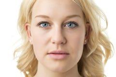 Blonde Frau des Gesichtes Lizenzfreies Stockbild