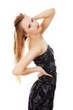 Blonde Frau des schönen Zaubers Stockbilder