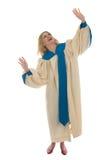 Blonde Frau, die Gott preist Lizenzfreies Stockfoto