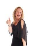 Blonde Frau, die sich ihre Bums zeigt Lizenzfreie Stockfotografie