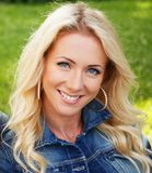 Blonde Frau in einem Matrosen Lizenzfreies Stockbild