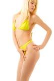 Blonde Frau im Bikini Lizenzfreie Stockfotografie