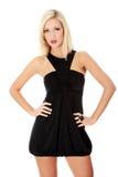Blonde Frau im reizvollen Kleid Lizenzfreie Stockfotos