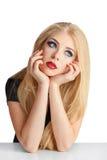 Blonde Frau mit dem langen Haar Stockfotos