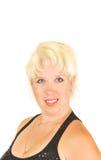 Blonde Frau mit blauen Augen. Lizenzfreies Stockbild