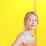 Blonde Frau mit blauen Augen Lizenzfreie Stockbilder