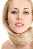 Blonde Frau mit dem langen Haar Stockbilder