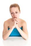 Blonde Frau mit dem langen Haar Lizenzfreie Stockfotografie