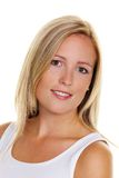 Blonde Frau mit Freckles stockbild