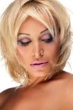Blonde Frau mit heller Verfassung Lizenzfreie Stockfotos