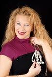 Blonde Frau mit Juwelen Lizenzfreies Stockbild