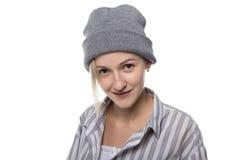 Blonde Frau mit Kopfschmuck Lizenzfreies Stockbild