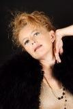 Blonde Frau mit Portrait der blauen Augen Stockbild