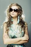 Blonde Frau mit sunglases Lizenzfreies Stockbild