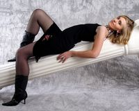 Blonde Frau No.7 Lizenzfreies Stockbild