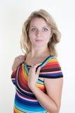 Blonde Frau und herrlich Lizenzfreie Stockfotografie