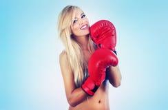Blonde Frauen Stockfotografie