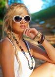Blonde Frauen Stockfoto