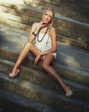 Blonde Frauen Stockfotos
