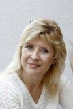 Blonde Frauen des Portraits Lizenzfreies Stockfoto
