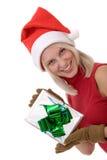 Blonde Frauen und ein Geschenkkasten Lizenzfreie Stockfotos