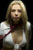 Blonde Frauenaufstellung Stockbilder