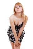 Blonde Frauenaufstellung Lizenzfreie Stockfotos
