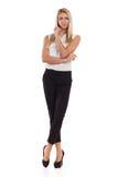 Blonde Frauenaufstellung Lizenzfreie Stockbilder