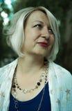 Blonde Frauenaufstellung Lizenzfreie Stockfotografie