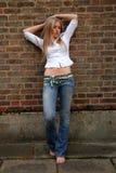 Blonde freddo Fotografia Stock