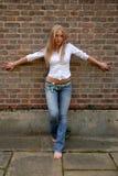 Blonde freddo Fotografie Stock Libere da Diritti