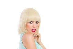 Blonde fringe Stock Photo