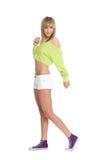 Blonde gaie de fille Photo stock
