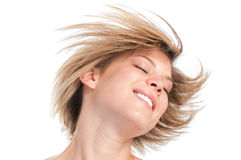 Blonde gerade Frisur Lizenzfreies Stockbild