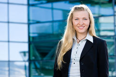 Blonde Geschäftsfrau Stockfotos