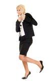 Blonde Geschäftsfrau Stockfotografie