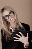 Blonde Geschäftsfrau. Stockfotografie