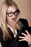 Blonde Geschäftsfrau. Stockfoto