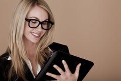 Blonde Geschäftsfrau. Stockbild