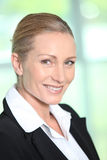 Blonde Geschäftsfrau Stockbild