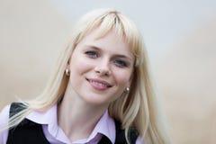 Blonde Geschäftsfrau Lizenzfreie Stockfotografie