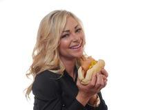 Blonde Geschäftsfrau Lizenzfreies Stockfoto