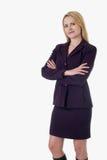 Blonde Geschäftsfrau Lizenzfreie Stockfotos