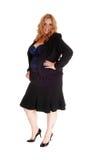 Blonde Geschäftsfrau der natürlichen Größe im Profil Stockbild