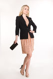Blonde Geschäftsfrau der schönen Mode Stockfoto