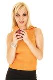 Blonde Geschäftsfrau im Rock Lizenzfreies Stockfoto